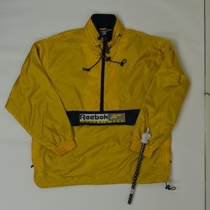 Reebok Regular XL Yellow   Jacket Nylon Solid